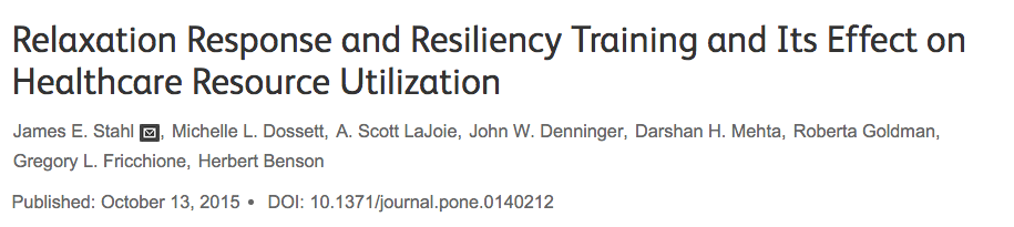 reprogramming the mind for resilience with relaxation response